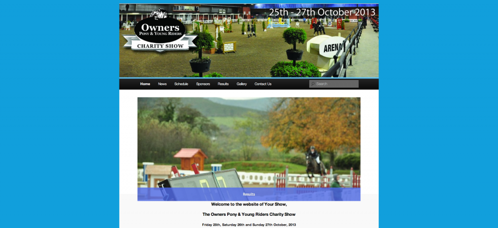 Owners, Pony and Young Riders Charity Show
