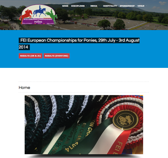 FEI European Championships for Ponies – Website