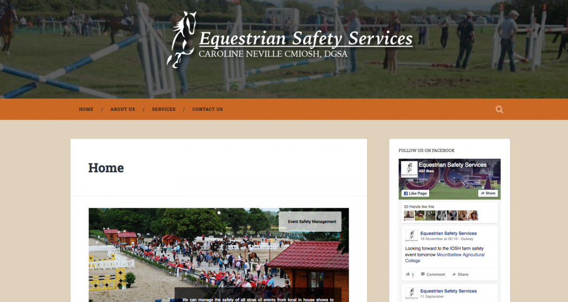 Equestrian Safety Services Website