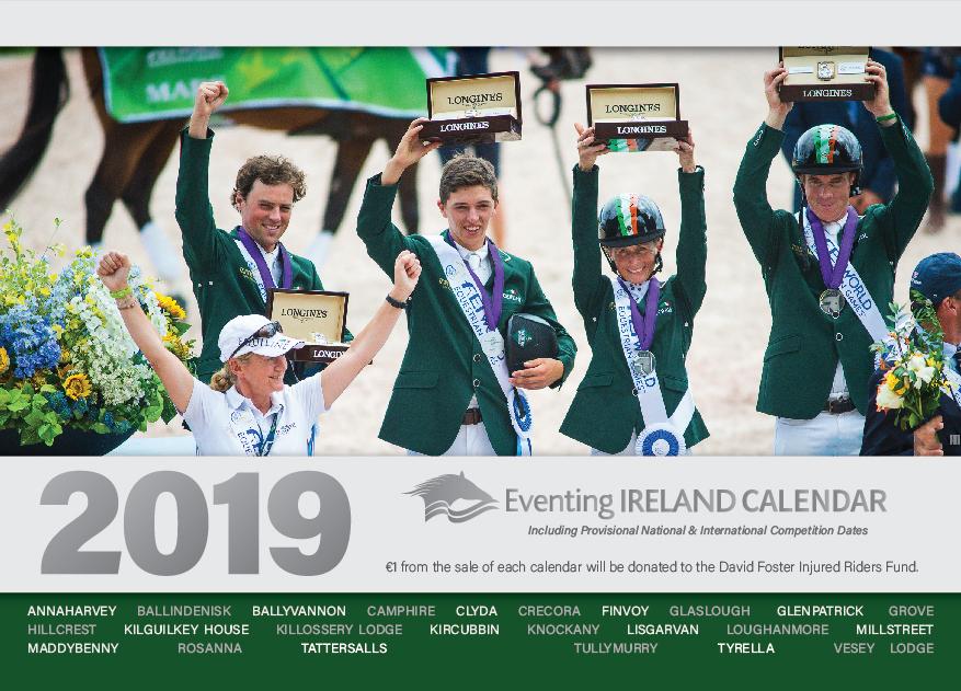 Eventing Ireland Calendar 2019