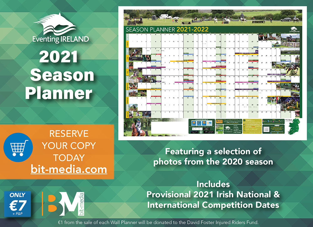 Eventing Ireland 2021 Season Planner